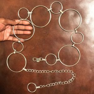 Vintage Accessories - Vintage Silver Circle Link Belt